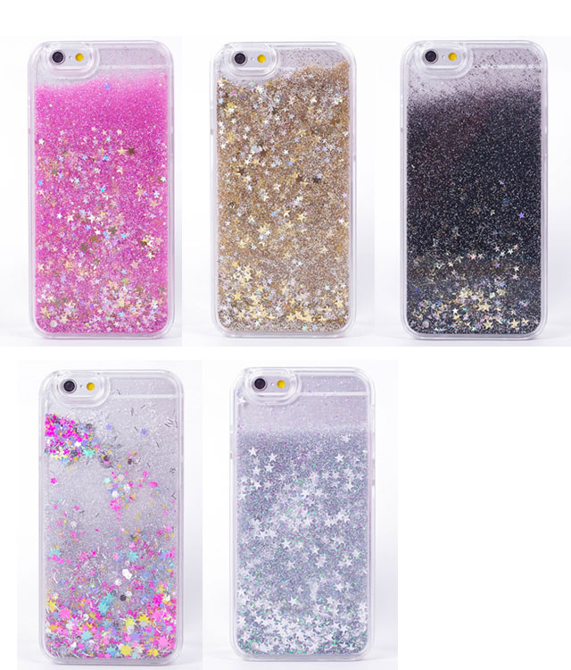 hot sale online 6dbbd 6e7dd Water Liquid Phone Case For iPhone 4 4S 5 5S SE 5C Luxury Rainbow Unicorn  Horse Twinkle Quicksand Glitter Star Cover