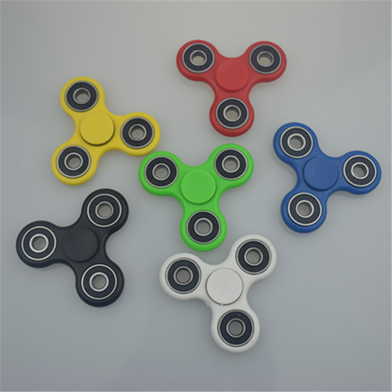 2017 7Style In stock Tri-Spinner Fidget Toy Plastic EDC Hand Spinner For Autism And ADHD Rotation Time Long Anti Stress Toys