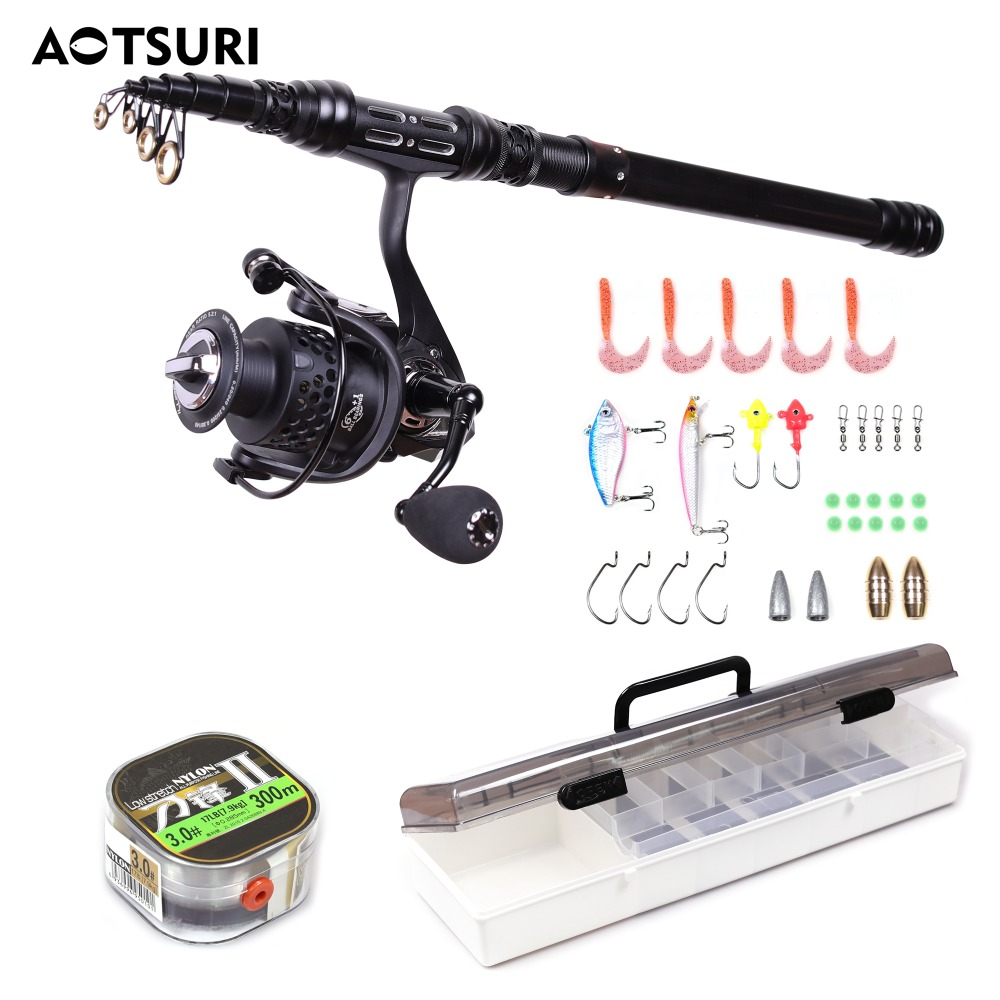 Aotsuri Fishing Rod and Reel Combos Carbon Fiber Telescopic Fishing Rod with Reel Combo Sea Saltwater Freshwater Kit Fishing Rod free shipping to russian new bass fishing rod 1 53m spining carbon fiber jigging trolling bass fishing rod saltwater sea ocean