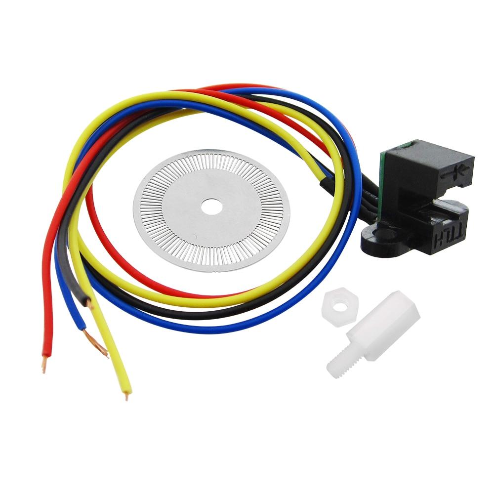 HAILANGNIAO 5PCS/LOT Photoelectric Speed Sensor Encoder Coded Disc Code Wheel Smart Car