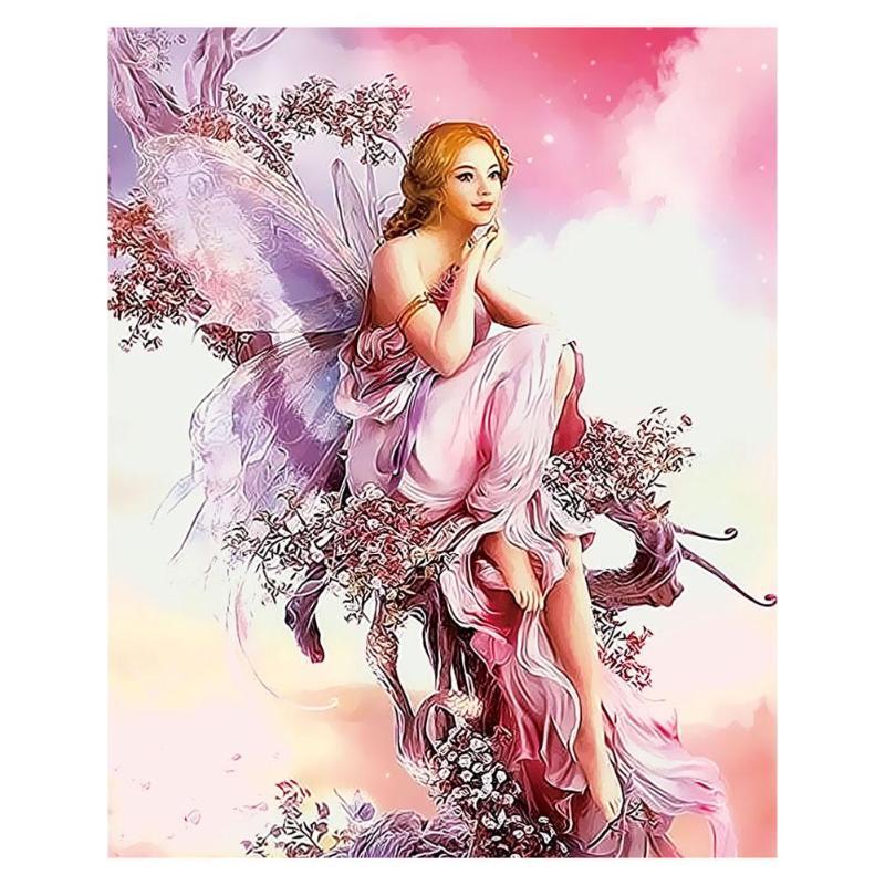 Us 6 97 32 Off Frameless 3d Diy Butterfly Elves Digital Oil Painting Canvas Wall Art Picture Set Kit Canvas Painting For Living Room Wall Art In