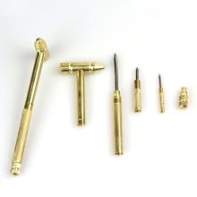 Новинка 5 в 1 микро мини мульти латунный молоток 4 вида отвертка Биты карманные DIY Инструменты