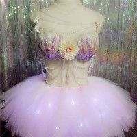 New design Sexy Girl Dance Dress Wings Costumes Bar KTV Stage Performance Clothing Party Supplies Free shipping