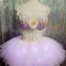 Новый дизайн сексуальная девушка платье для танцев крылья костюмы бар КТВ сцены Костюмы вечерние поставки Бесплатная доставка