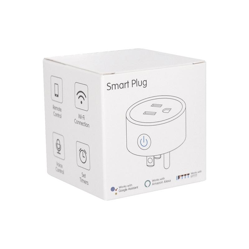 HTB1g6r.e8Cw3KVjSZFlq6AJkFXaw - FrankEver Mini US Wifi Plug with Surge Protector 110-240V Voice Control Smart Socket Work with Alexa Google Home Tuya APP