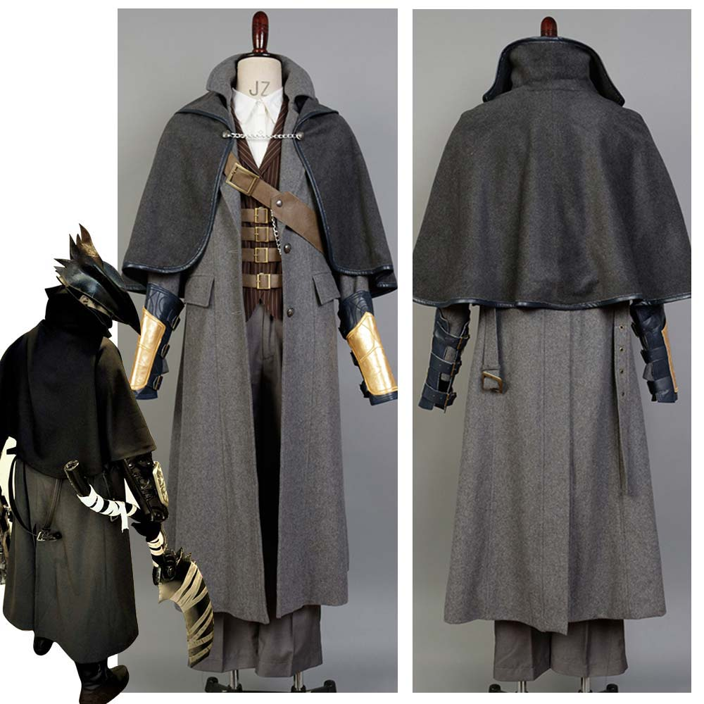 Bloodborne Cosplay Costume The Hunter Cosplay Costume Full Set Carnival Halloween Costume for Adult Men