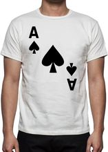 Funny Shirts Crew Neck Short-Sleeve Gift  Ace Of Spades  Shirts For Men printio ace of spades