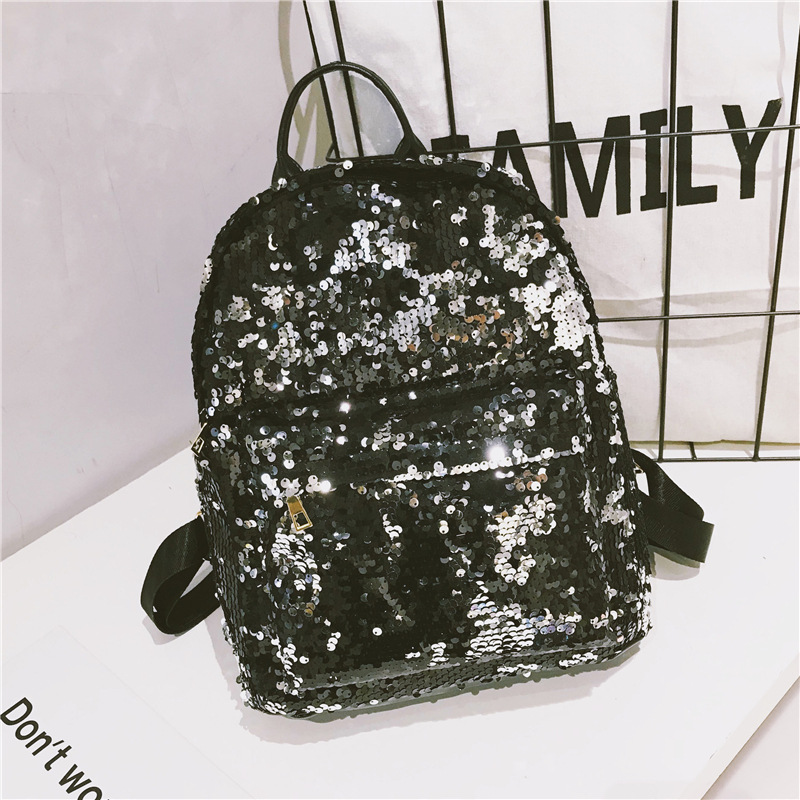 2019 Outdoor Women\\'S Backpack With Sequins Girls School Travel Hiking Bling Gym Bag Backpack For Girls Gymnastics Fitness Bag