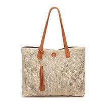2018 Square Straw Bags Women Summer Rattan Bag Handmade Woven Beach Cross Body Bag Circle Bohemia Handbag