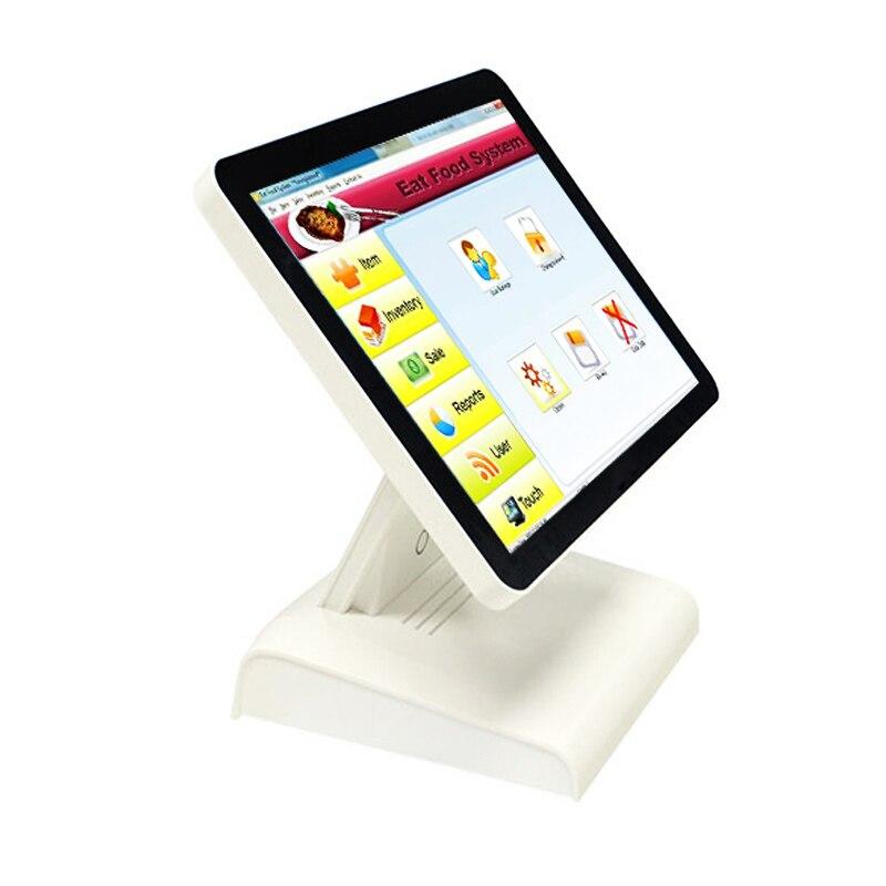 POS1619 15 Pouce Écran Tactile Caisse Enregistreuse Carte Lecteur Scanner Peut Être Personnalisé