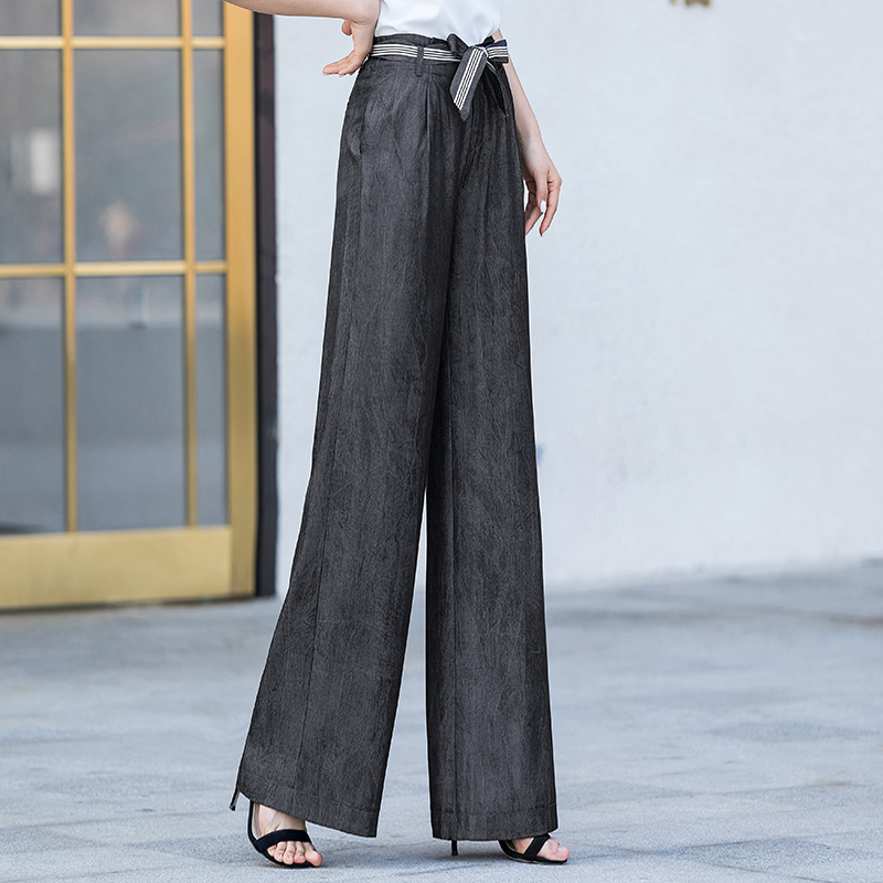 Women High Waist   Wide     Leg     Pants   2019 Summer Streetwear Harajuku Elegant Palazzo Trousers Flared Capri Women   Pants   Plus Size 5xl