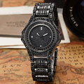 2016 Luxury Brand Design Ladies Watch Women Alloy Steel Black Bracelet Full Crystal Diamond Quartz-watch Clock Dress Women Gift