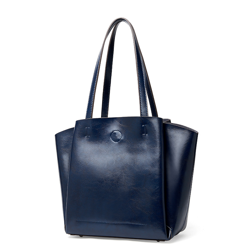 Large Capacity Women Casual Tote 2019 Fashion Shoulder Bags Lady Top handle Leisure Bag Oil Genuine