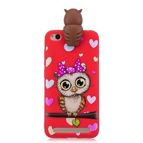 Soft TPU Phone Case for Coque Xiaomi Red Note 5 6 Red 6A 7 GO Note 7 6 Pro Cover panda unicorn owl Cartoon Doll Toys Etui Funda Karachi