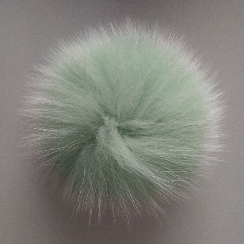 9cm Nature Genuine Fox Fur Ball Pom Pom Fluffy DIY Winter Hat   Skullies     Beanies   Knitted Cap Pompoms TKF002-purple