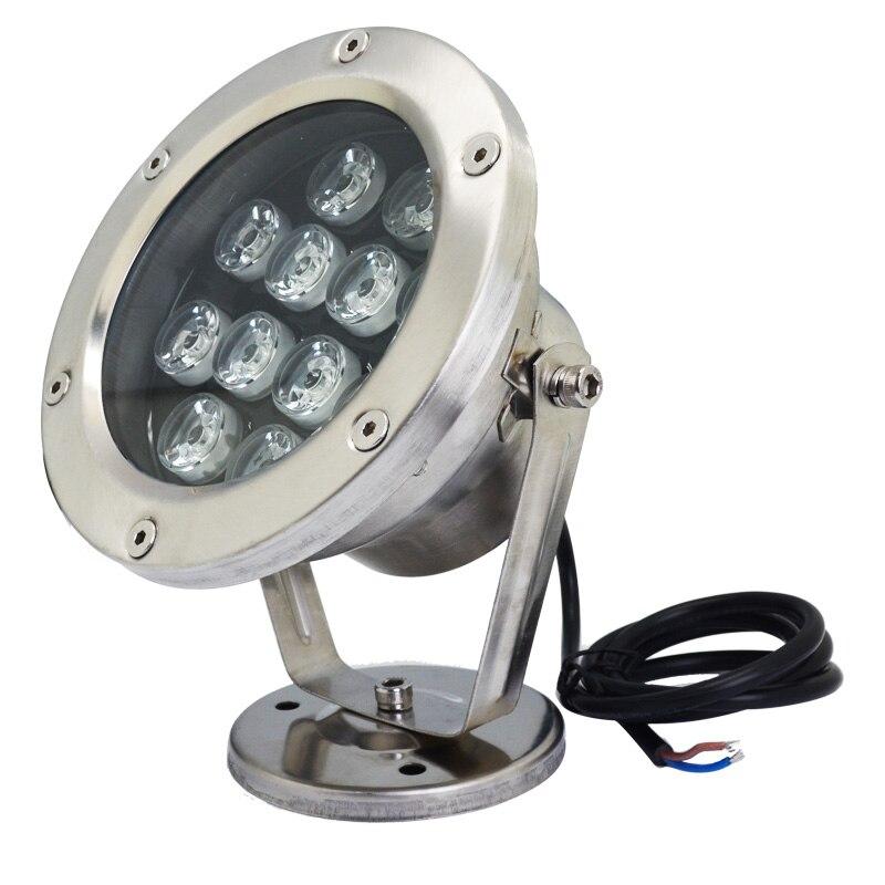 ФОТО 5pcs AC 24v led rgb underwater light waterproof  12w IP68 swimming pool fountain aquarium fish tank pond lamp free shipping
