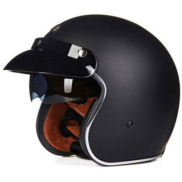 klassische retro motorrad helm 3 4 offenes gesicht. Black Bedroom Furniture Sets. Home Design Ideas