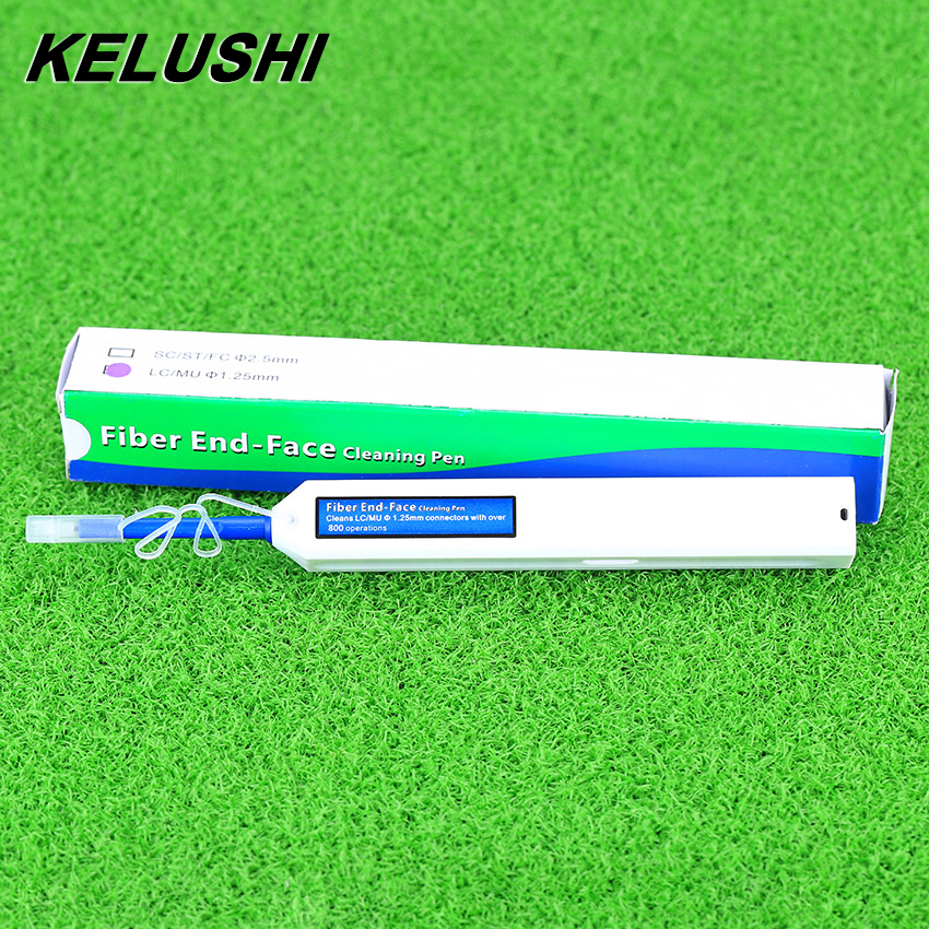 KELUSHI New Fiber Optic Cleaner Pen Upgrade LC/MU 1.25mm Connector Optical Fibre Cleaner One-Click cleaning Tools