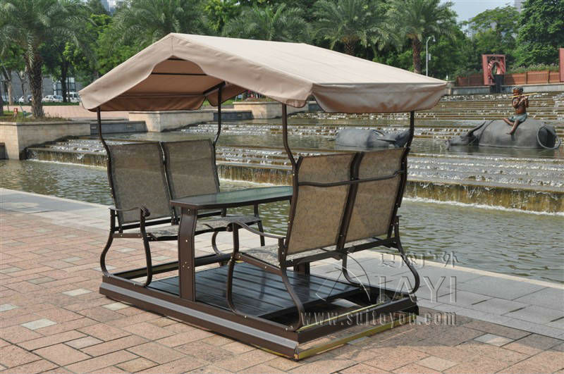 modern 4 seats right left movable outdoor swing chair adult hammock furniture with canopychina
