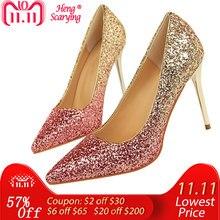 cc0976f958e Gold Bridal Heels-Koop Goedkope Gold Bridal Heels loten van Chinese ...