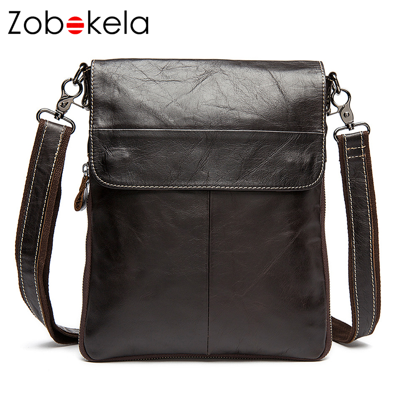 Zobokela Men messenger bags genuine leather bag briefcases large capacity famous brands shoulder designer high quality bags men ...