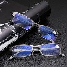 8375dc32e5 Reading Glasses Brand Fashion Clear Lens Metal Frame Eyewear Men Vintage  Eyeglasses full Old People Presbyopic