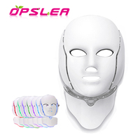 7 Colors Photon LED Facial Mask with Neck Skin Care Rejuvenation Whitening Light Therapy Wrinkle Acne Removal Beauty Instrument
