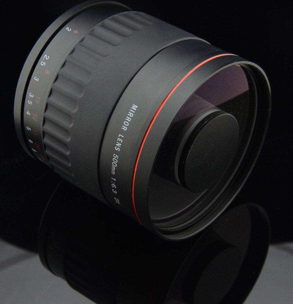 JINTU 500mm f/6.3 Miroir Caméra Téléobjectif Lentille Noir Pour Canon EOS 100D 200D 2000D 4000D 1000D 1100D 1200D 1300D 450D 550D 650D