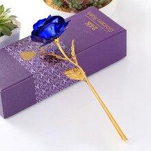 День Святого Валентина креативный подарок 24 к фольга покрытием Розовое золото роза длится навсегда любовь свадьба сувенирное украшение Прямая