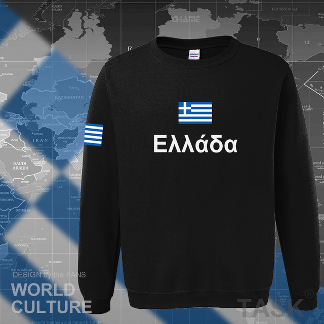 Greece hoodies men sweatshirt sweat new hip hop streetwear socceres jerseyes footballer tracksuit nation Greek flag Hellas GR 1