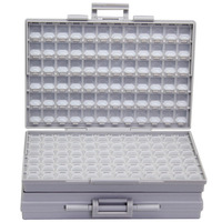 AideTek BOXALL de plástico de la caja de herramientas de montaje SMD SMT 1206, 0805, 0603, 0402 componentes electrónica cuentas de almacenamiento de los casos y los organizadores 2 BOXALL