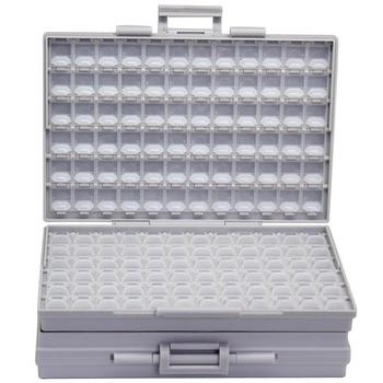 AideTek BOXALL kunststoff toolbox montieren SMD SMT 1206 0805 0603 0402 komponenten Elektronik Perlen Lagerung Fällen & Organisatoren 2BOXALL