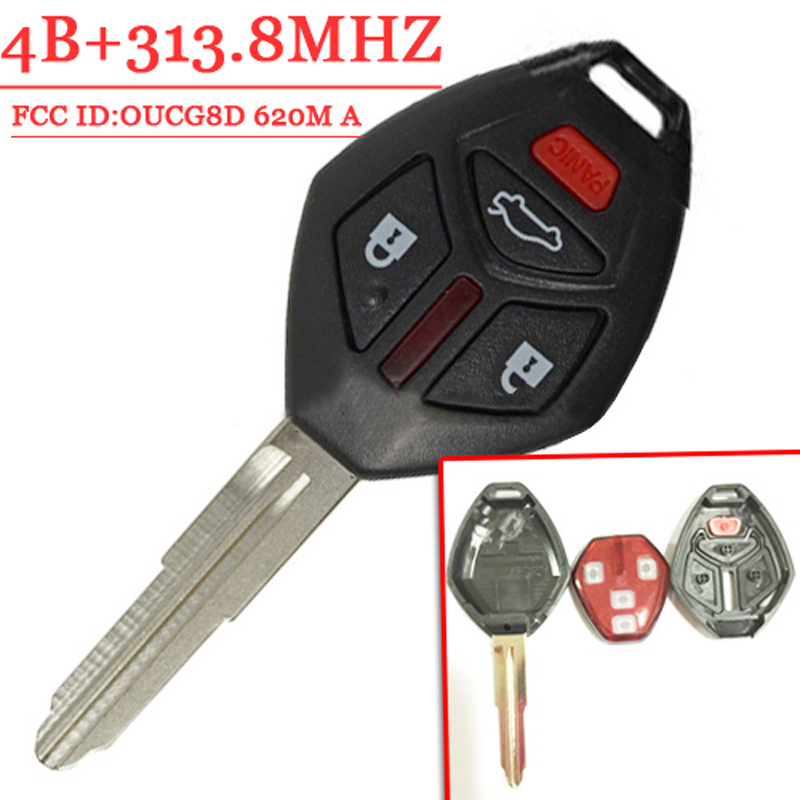 4 (3+1) Buttons Remote Key For Mitsubishi Eclipse Galant (2007 2012) FCC:OUCG8D 620M A