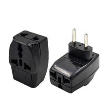 Uniwersalny do Europlug ue Travel Adapter 3 Way Multi Outlet czarny kolor typu E F G(China)