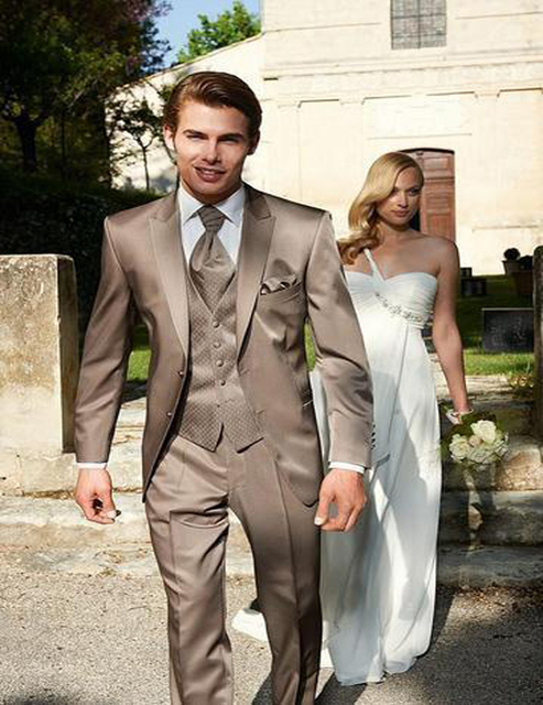 2018 Newest Brown The best Man Suits for wedding Men\'s morning ...