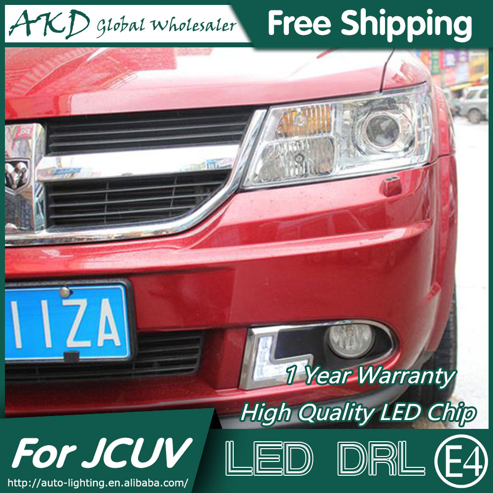 AKD Car Styling for Dodge JCUV LED DRL 2008-2012 Journey LED Daytime Running Light Fog Light Signal Parking Accessories akd car styling led drl for kia k2 2012 2014 new rio eye brow light led external lamp signal parking accessories