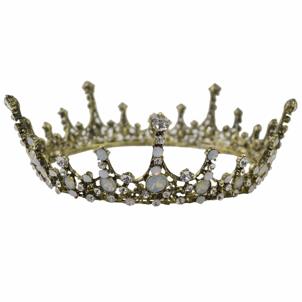 Idealway Barock Luxury Pearl Bridal Crown Bröllopsfest Prom Vintage - Märkessmycken - Foto 5