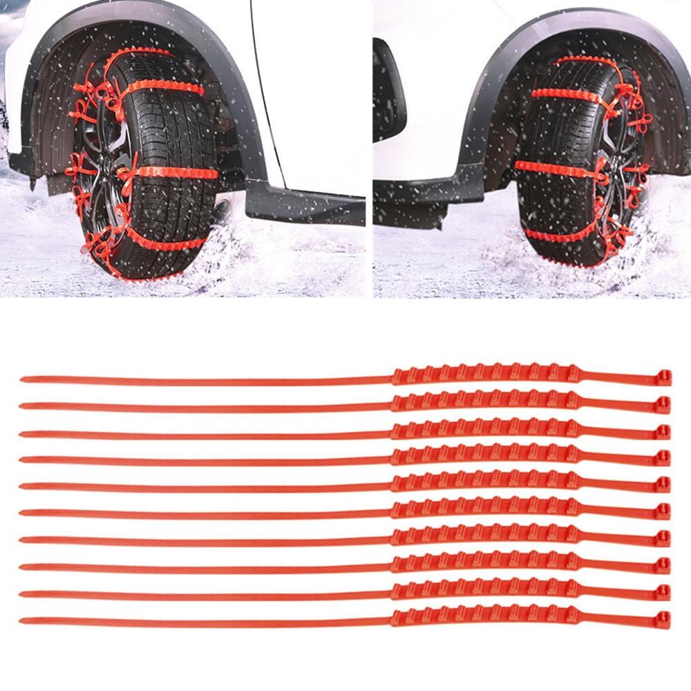 10 Pz Pneumatico Da Neve Catena Di Auto Anti-skid Di Emergenza Di Guida Invernale Di Picchi Di Pneumatici Per Auto 10 #