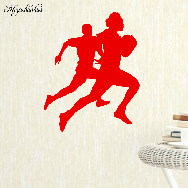 Muyuchunhua Running Race Removable Wall Stickers Home Decoration Accessories for Decor Living Room Background Wall Art Decal