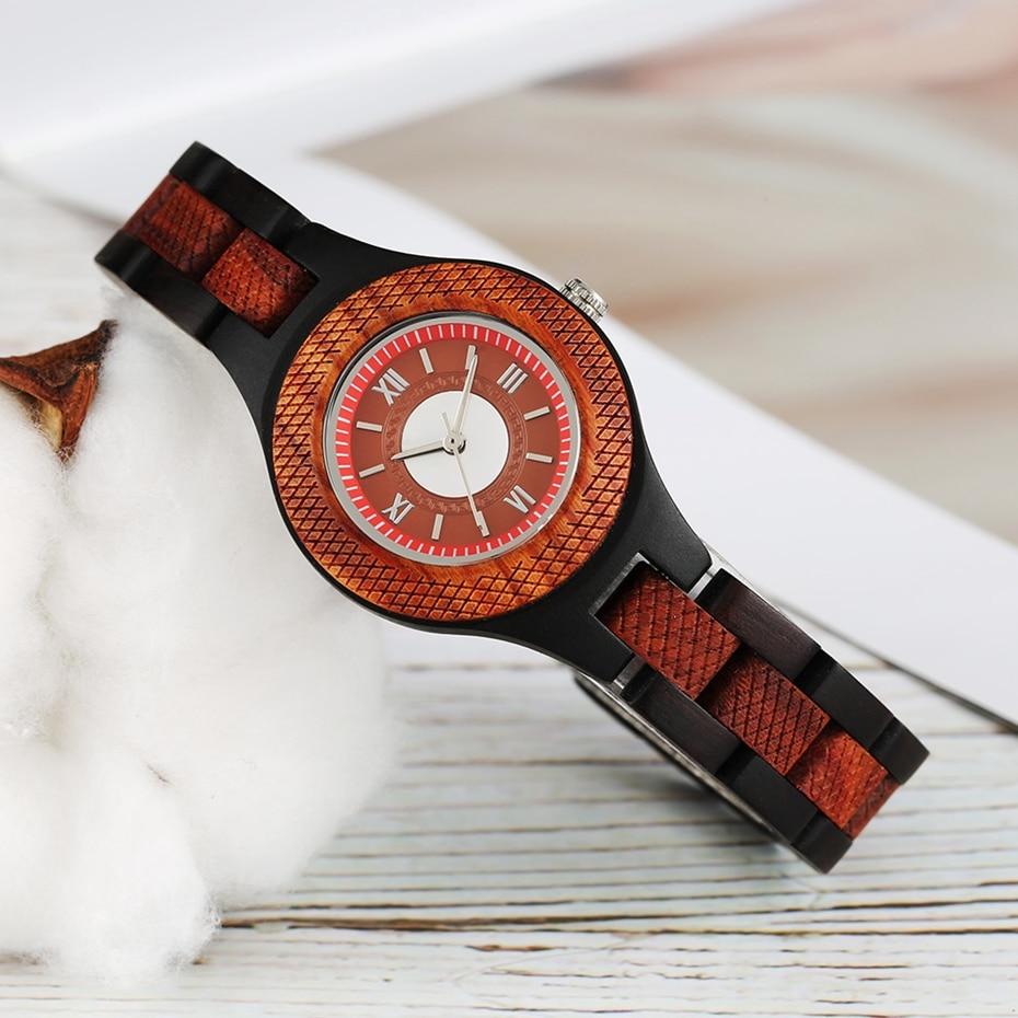 Women Watch Creative Multi-layer Circle Chic Dress Watch Dial Analog Light Slim Wooden Bracelet Quartz Wristwatch for Lady Girls 2020 (7)