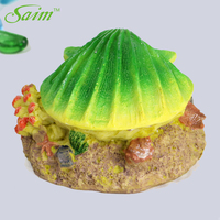 Saim Simulation Shell Air Stones for Fish Tanks Aquarium Resin Tropical Clam Aerating Air Stone Ornament Spit bubble oxygen Pump
