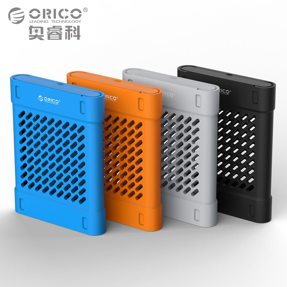 ORICO 2.5 inch Silicone Protective Box / Storage Case for Hard Drive SSD Black/Blue/Gray/Yellow hard silicone tool storage box orange