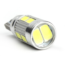 T10 Light Source Universal DC 12V LED Car Turn Signal Lights Indicators Parking Braking Lamps CANBUS 5630 SMD 10 LED Bulbs