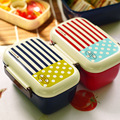Double Plastic Japanese Lunch Box Aparelho De Jantar Microwave Food Containers Fiambrera Student Lunchbox Marmita Para Comida