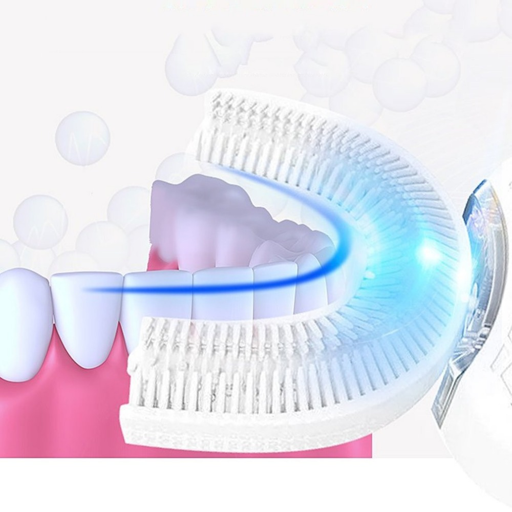 Electric Toothbrush Fully Automatic 3D Care Mouth Cleaner Toothbrushes Rechargeable Teeth Whitening Sonic Toothbrush