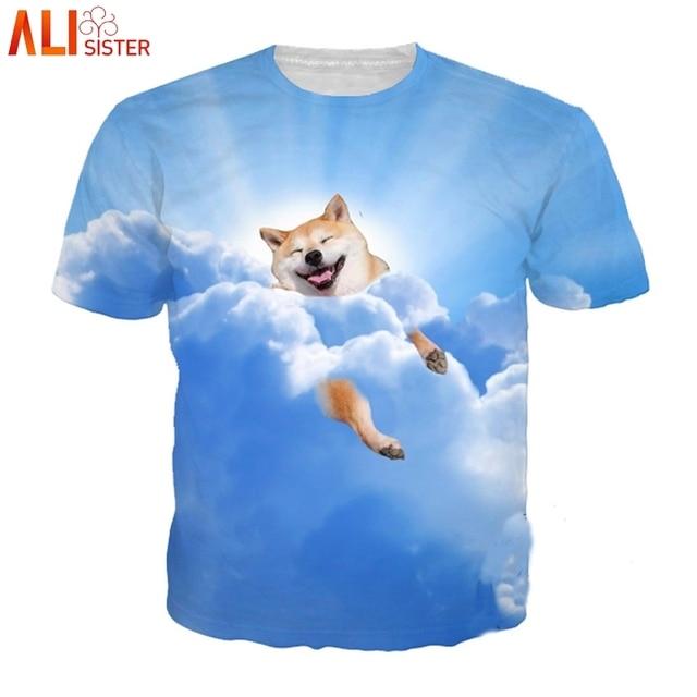 46d12715f4c Alisister Cute Dog Print 3d T Shirt Men Women Plus Size Summer Funny Tshirts  Animal Pig Cat Tee Camiseta Homme Shirt Dropship