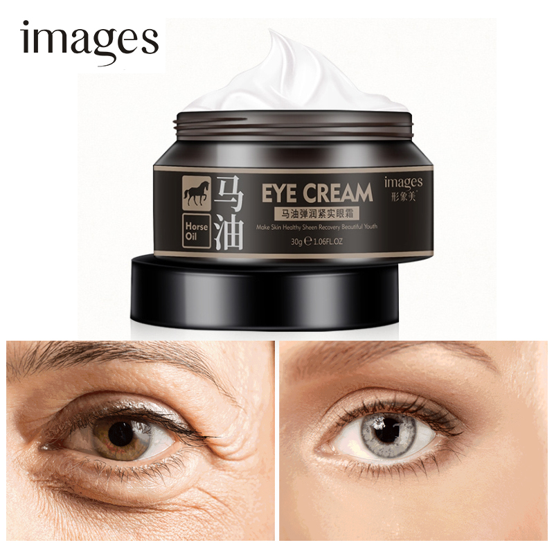 где купить Horse Oil Eye Cream Anti-Aging Anti-Puffiness Remove wrinkles Tightens Eyes Serum Skin care Moisturizing Remove Fat Granule дешево