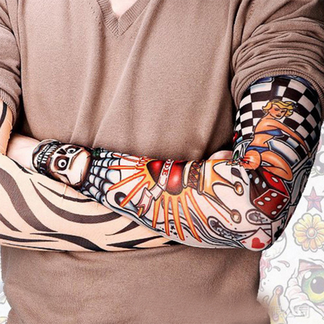 Tattoo Sleeves Outdoor Sun Flower Arm Drive Men And Women Riding