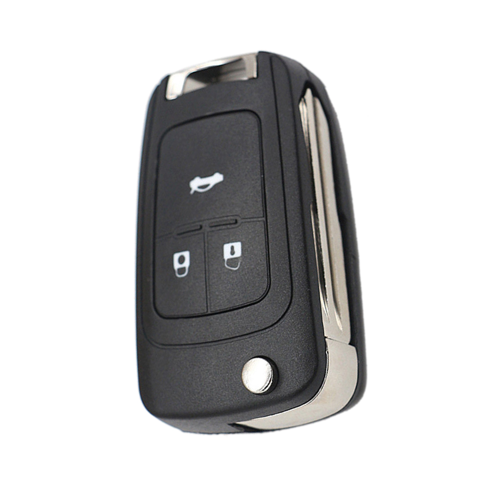 3 Button Replacement Flip Folding Remote Car Key Shell Case For Chevrolet Cruze title=