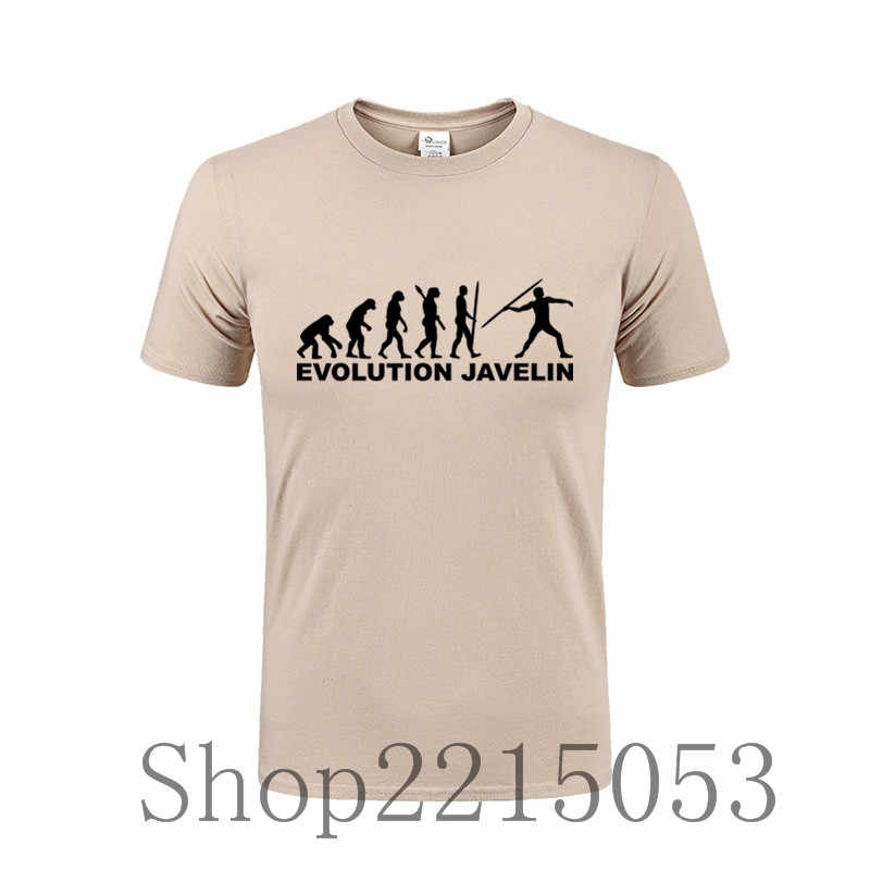db793484e ... Evolution Javelin throw Mens T Shirts Plus Size 6xl Designing O Neck  Male T-Shirt ...
